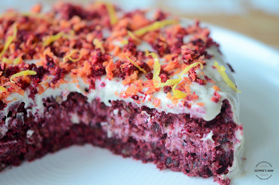 Carrot beetroot cake