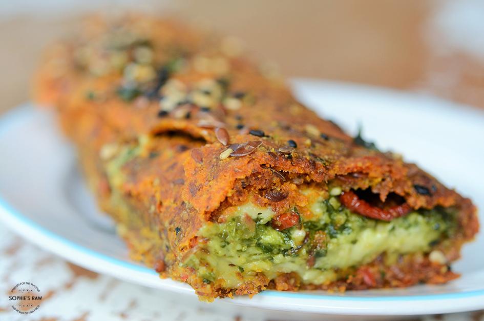 Grönsaksbaugette med italienska smaker