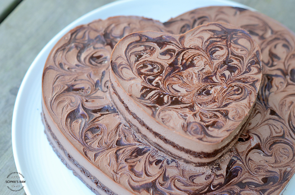 Marbled milky chocolate cake